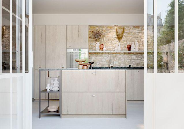 Des cuisines en bois naturel modernes et chaleureuses