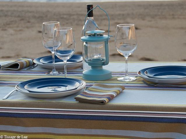 Cap sur les tables de bord de mer elle d coration Decoration table mer