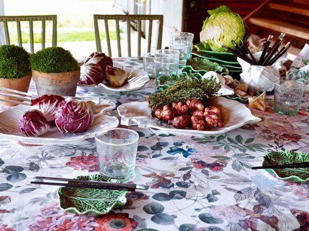6 services de table pour déjeuner au potager