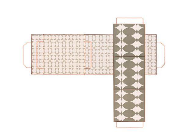 Plateaux à motifs carreaux de ciment