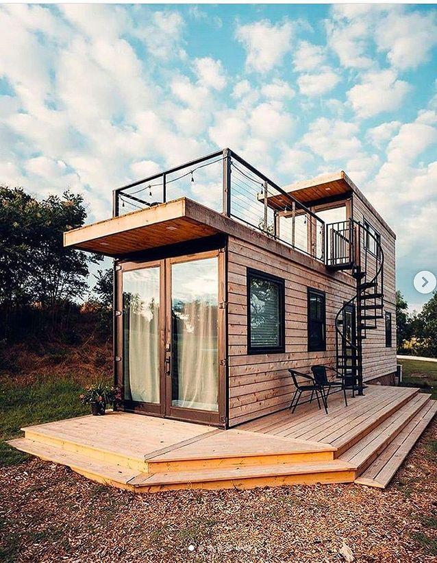 Tiny house avec toit terrasse