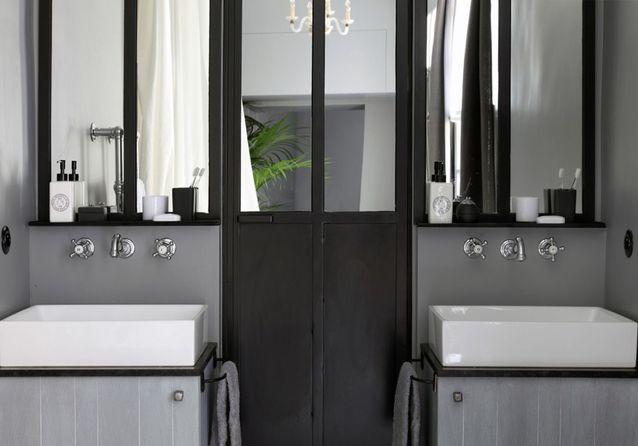 15 salles de bains grises - Elle Décoration