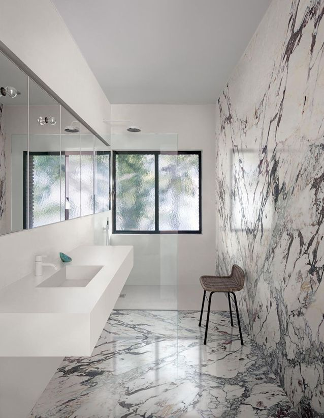 Une salle de bains design qui ose le rose - 35 salles de bains ...