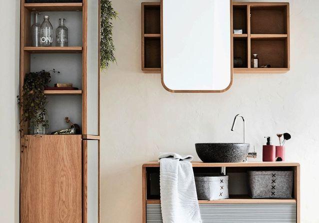 20 meubles pour une petite salle de bains elle d coration. Black Bedroom Furniture Sets. Home Design Ideas