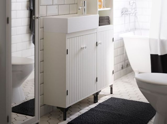 meuble sous vasque ikea pour petite salle de bains
