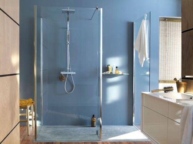 Succombez la tendance des douches l italienne elle - Paroi douche italienne castorama ...