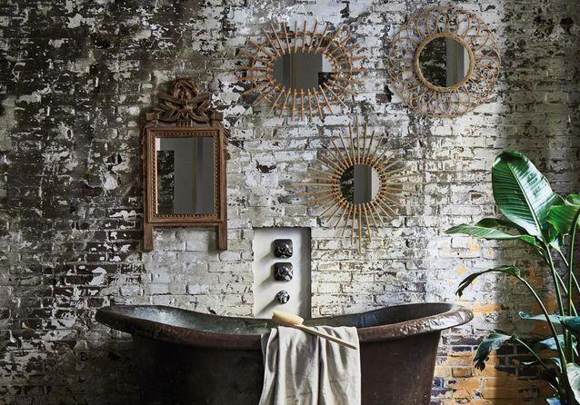 Voici les plus jolis miroirs de salle de bains elle d coration - Salle de bain pratique ...