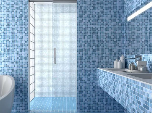 porte à galandage douche