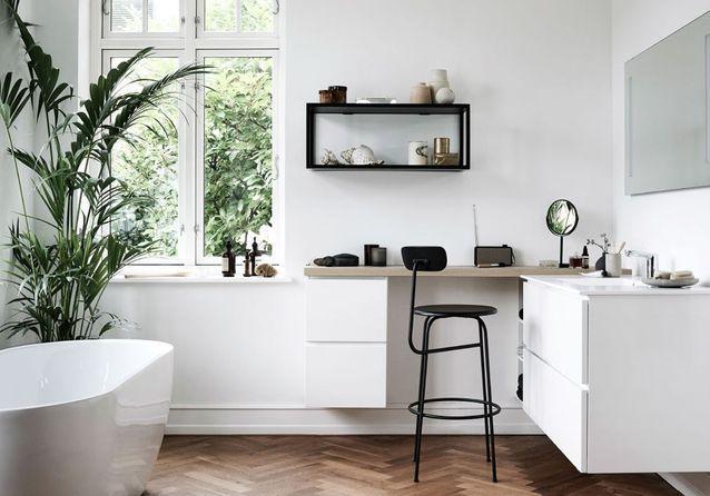 La salle de bains blanche, un basique facile à décorer - Elle Décoration