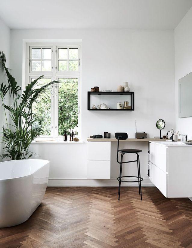 La salle de bains blanche, un basique facile à décorer ...