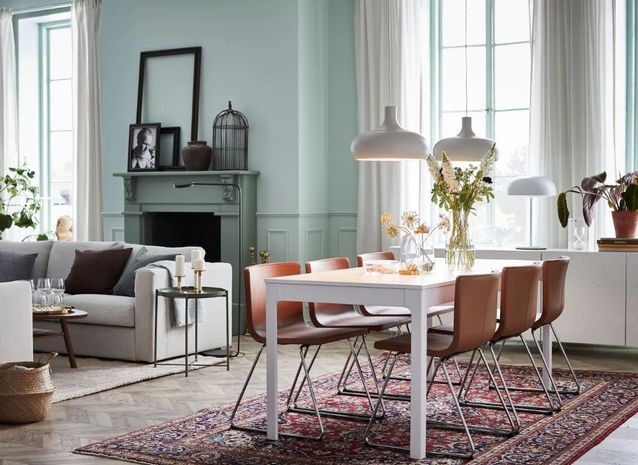Délimiter un coin salle à manger avec une palette de couleurs différente