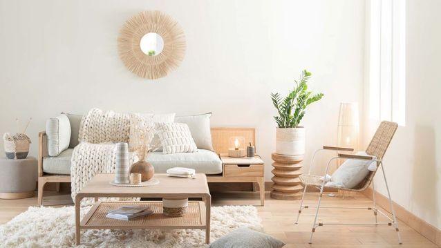 Impossible de se tromper avec la combinaison bois clair et gris clair