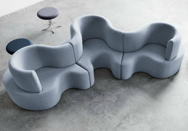 Le canapé « Cloverleaf » de Panton pour Verpan