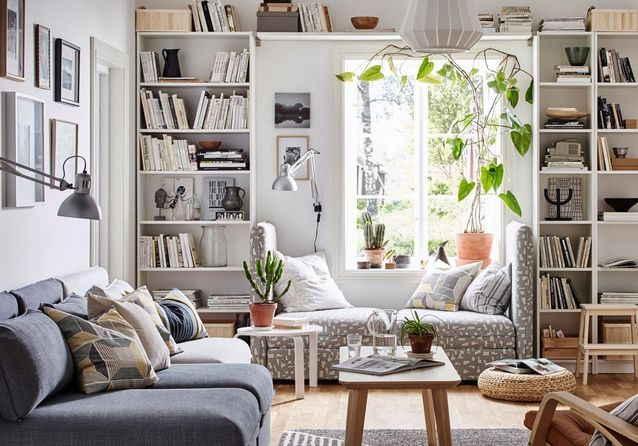 Ikea la cultissime biblioth que billy a 40 ans retour en images elle d coration - Meuble tv bibliotheque ikea ...