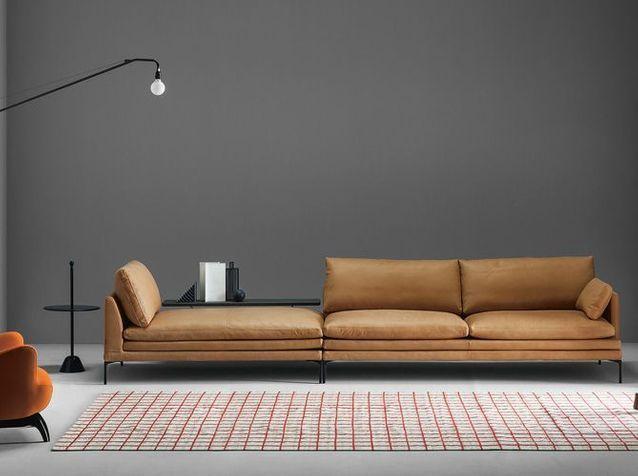 Le retour du canapé en cuir ! - Elle Décoration