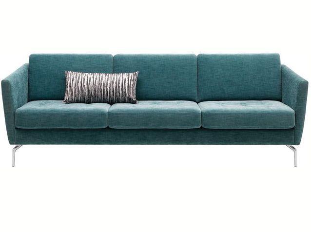 Canapé design en tissu turquoise