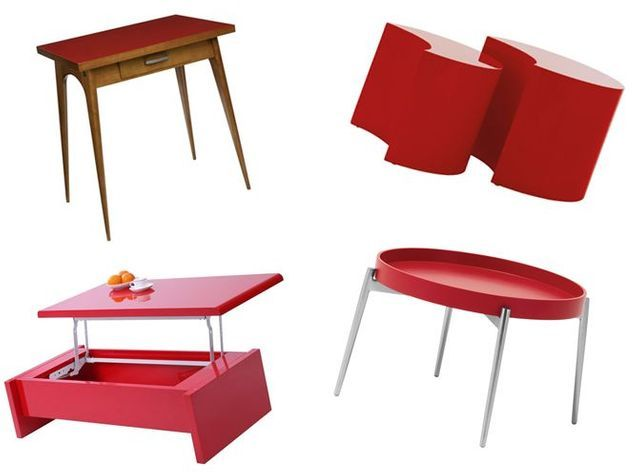 20 tables rouges pour réveiller votre intérieur