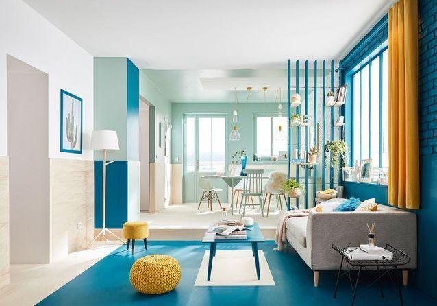 les plus beaux salons color s sont ici elle d coration. Black Bedroom Furniture Sets. Home Design Ideas