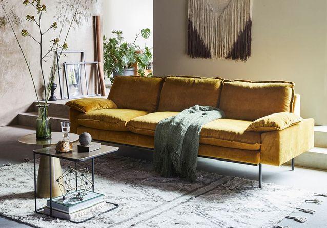 Un salon jaune pour un intérieur éclatant ! - Elle Décoration