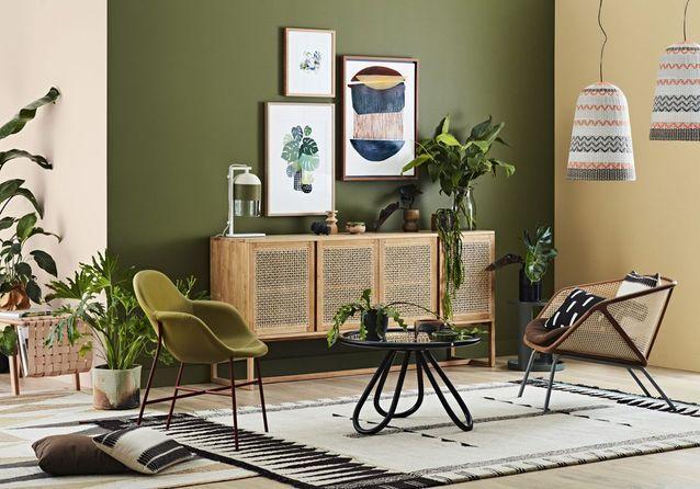 Voici plus beaux salons verts à copier - Elle Décoration