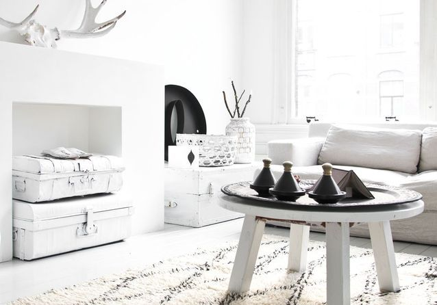 Le noir&blanc s\'invite au salon - Elle Décoration
