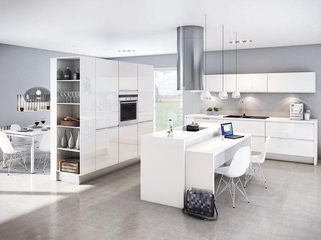 Une transition id ale entre la cuisine et le salon elle d coration - Decoration salon cuisine ouverte ...