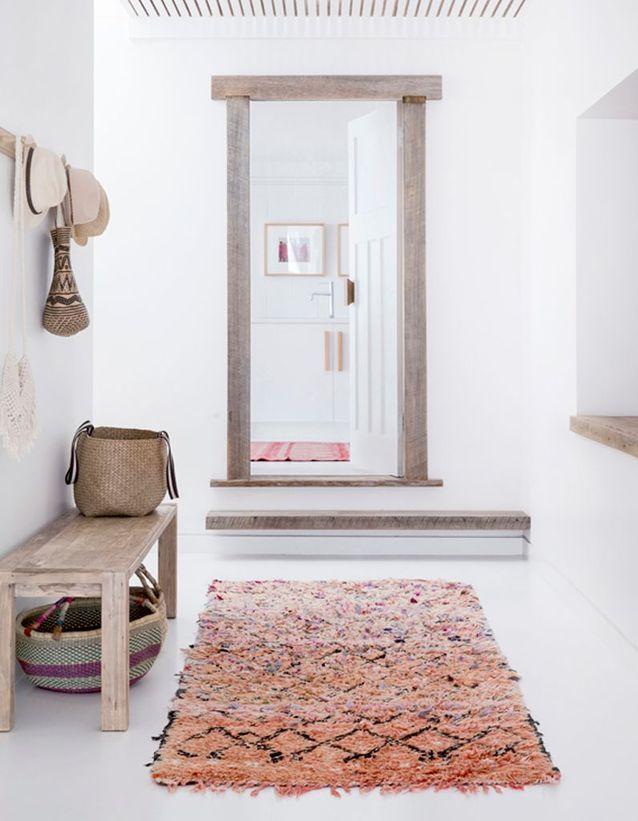 Un tapis pour une entrée qui joue sur les perspectives