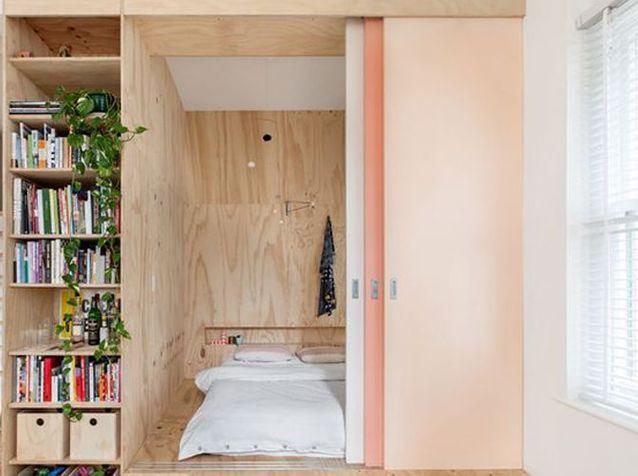 10 possibilit s avec une cloison coulissante elle d coration. Black Bedroom Furniture Sets. Home Design Ideas