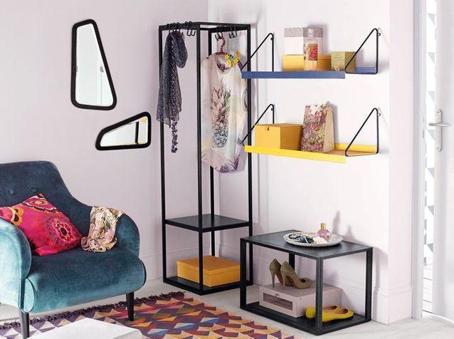 15 id es de dressings pour un petit appartement elle d coration. Black Bedroom Furniture Sets. Home Design Ideas