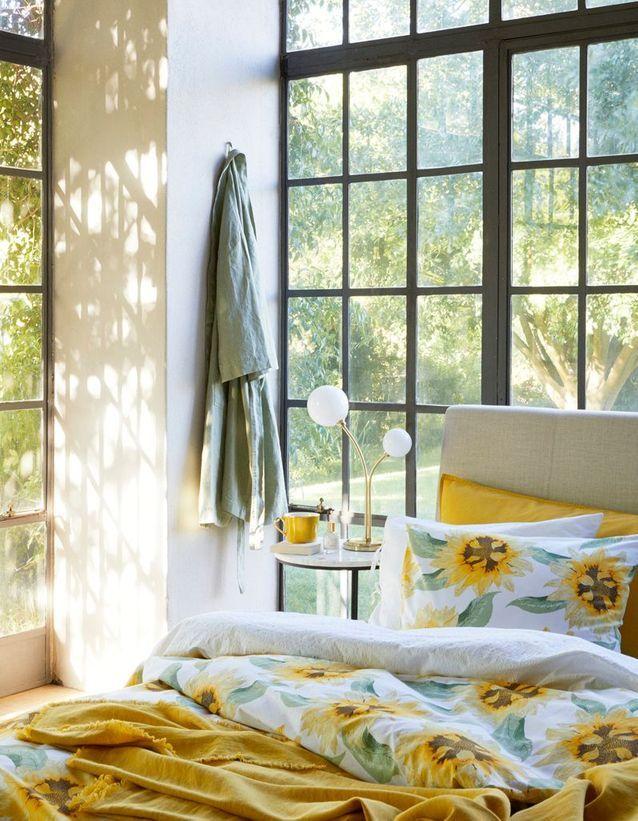 Du jaune vif version linge de lit