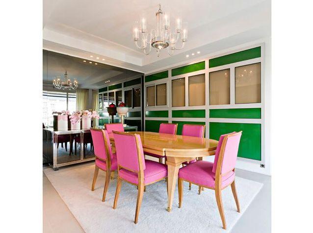 Le choc des couleurs de la salle à manger