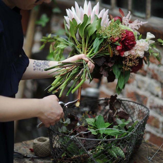 Idée n°8 pour un beau bouquet : recouper les tiges