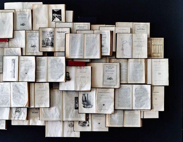 Voici 10 bonnes idées repérées sur Pinterest pour recycler vos anciens livres.