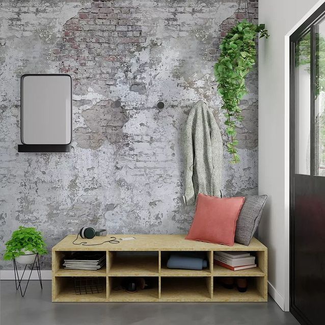 Papier peint XXL effet vieux mur