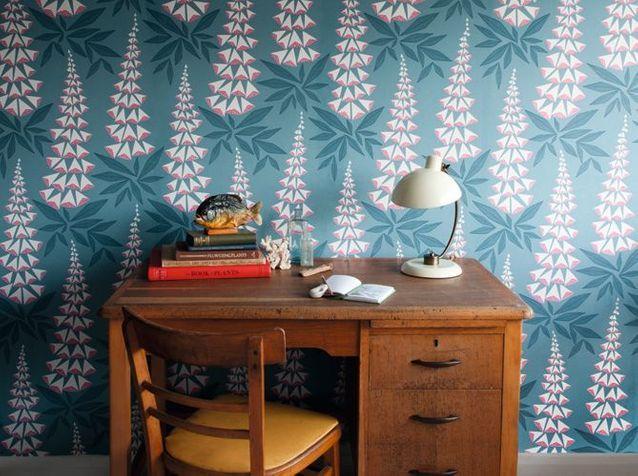 l 39 inspiration du jour les papiers peints miss print. Black Bedroom Furniture Sets. Home Design Ideas