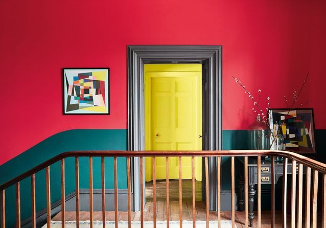 Peindre son couloir en couleur, l\'astuce déco parfaite pour looker ...