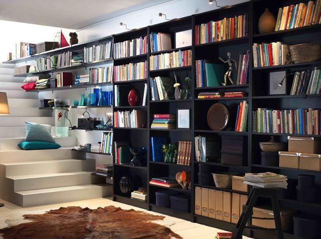 1. Une bibliothèque pour l'escalier