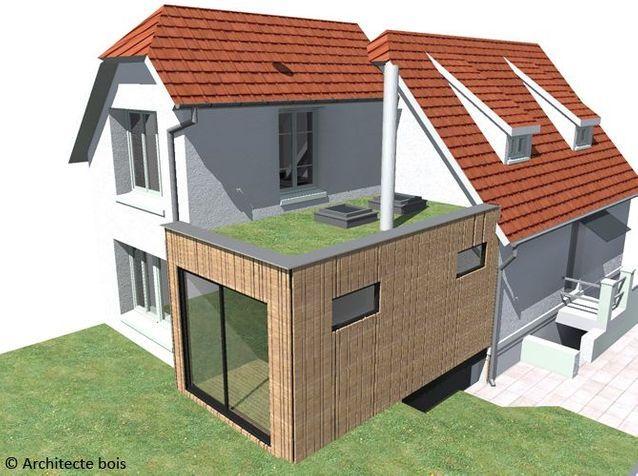Une extension en bois adaptée à vos besoins