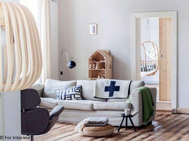 >> Un salon au charme scandinave