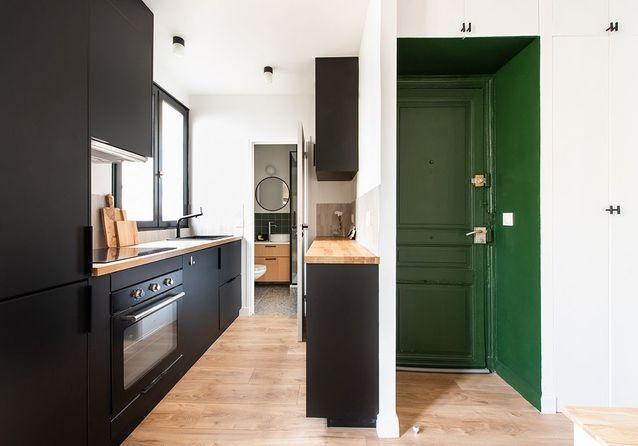 Avant/Après : ce 30 m2 parvient à caser un dressing et une cuisine XXL