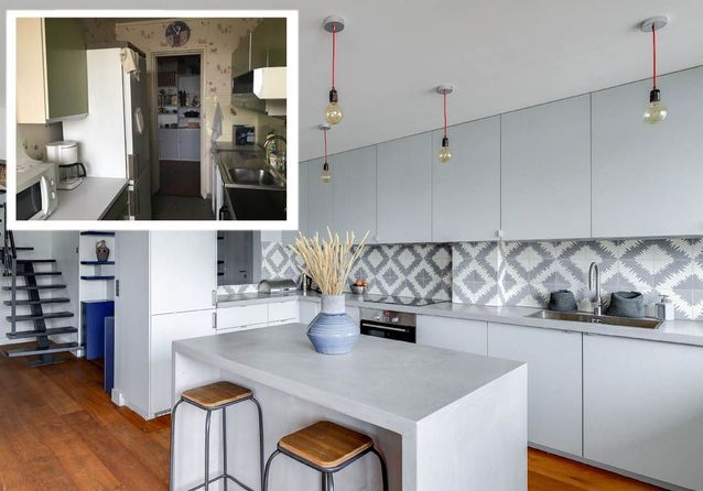 avant apr s 18 cuisines compl tement m tamorphos es. Black Bedroom Furniture Sets. Home Design Ideas