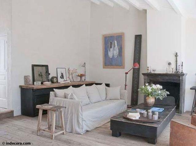 Un salon entre charme industriel et vintage