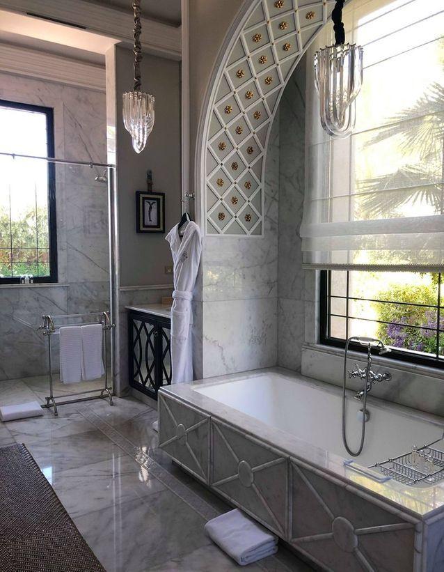 La salle de bains d'une des villas du Palais Ronsard