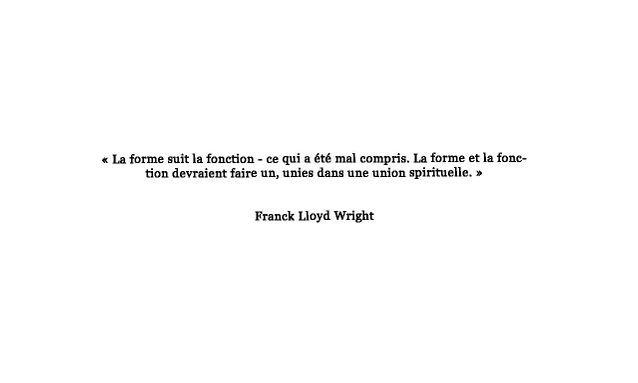 Citation de Franck Lloyd Wide