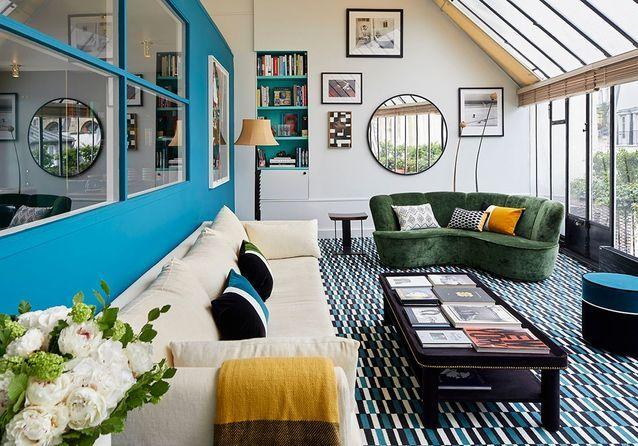 Le duplex-véranda so chic de Sarah Poniatowski