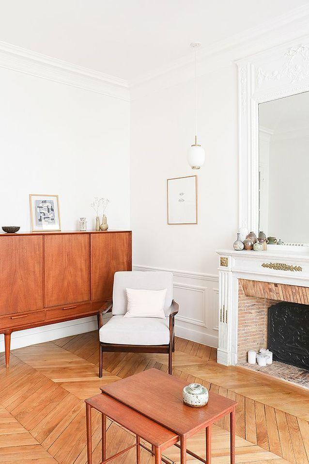 Le salon vintage épuré