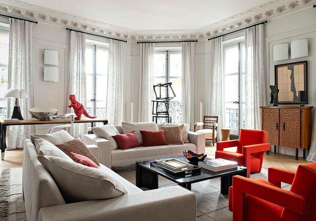 Scène inédite : un appartement parisien dédié à l'art