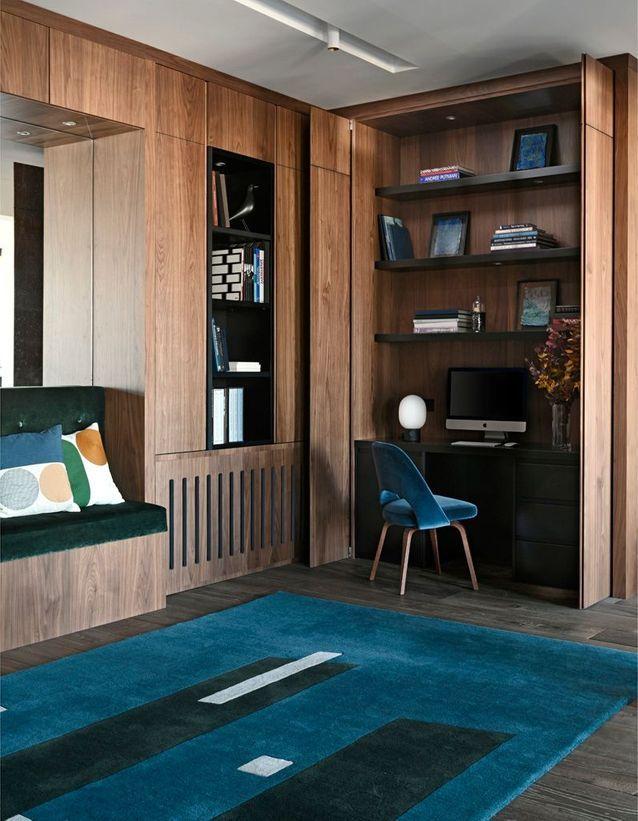 un appartement de 250 m entre bois et b ton elle d coration. Black Bedroom Furniture Sets. Home Design Ideas