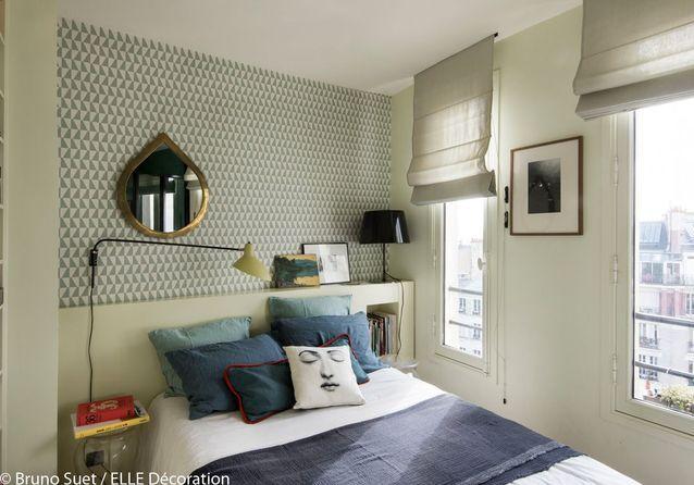 Une chambre au mur graphique
