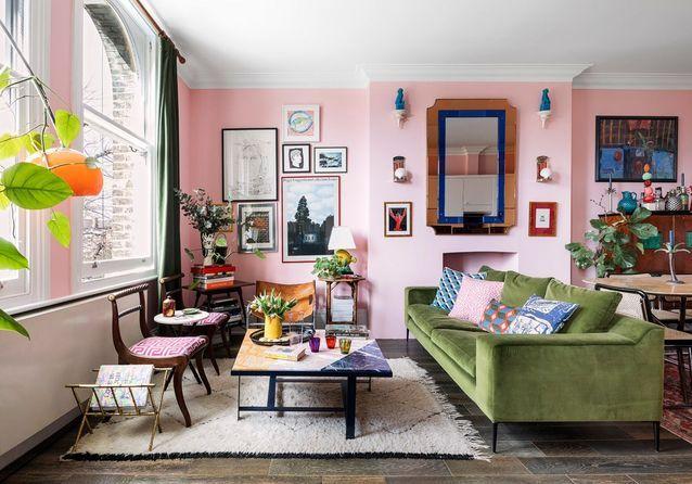 Une maison londonienne multicolore